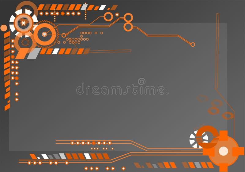 Абстрактная механическая обработка, промышленная предпосылка иллюстрация вектора
