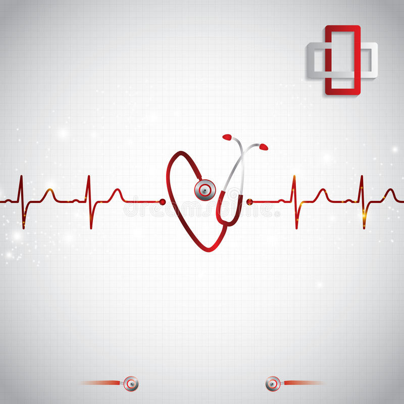 Абстрактная медицинская предпосылка ekg кардиологии бесплатная иллюстрация