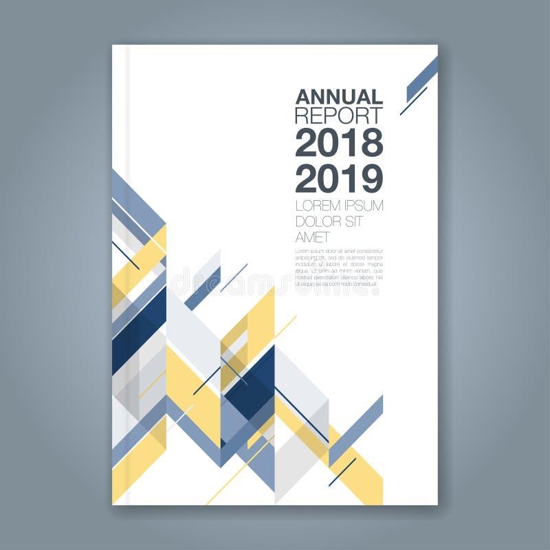 Абстрактная минимальная геометрическая предпосылка дизайна полигона форм для плаката рогульки брошюры обложки книги годового отче бесплатная иллюстрация