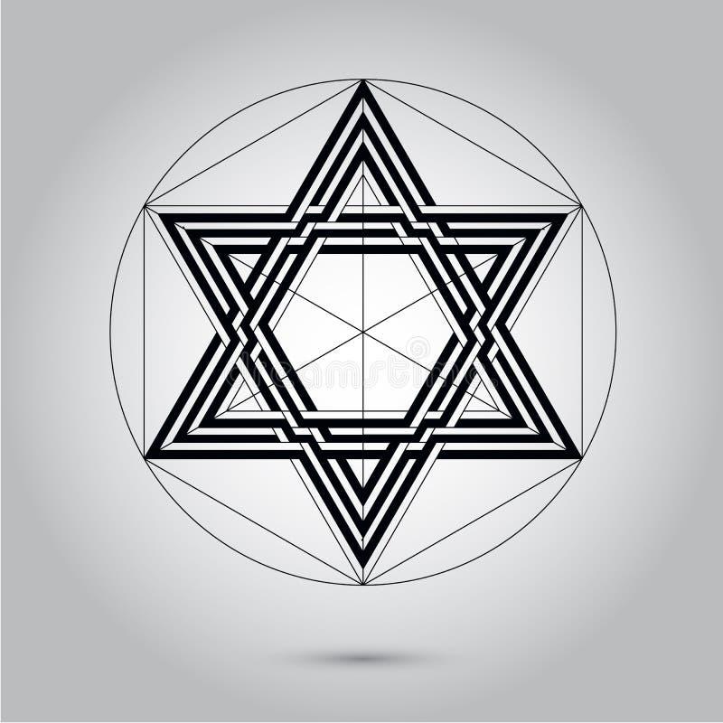 Абстрактная минимальная черно-белая звезда для иллюстрации фотографии запаса Eps 10 дизайна бесплатная иллюстрация