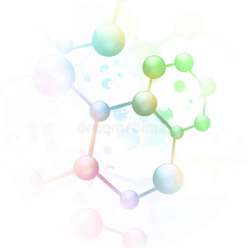 абстрактная молекула иллюстрация вектора
