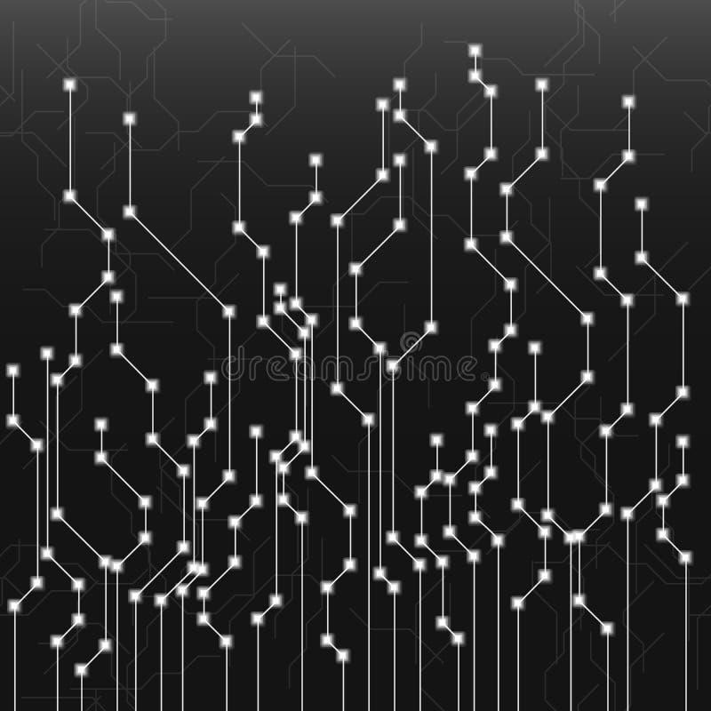 Абстрактная монтажная плата на белой предпосылке Инженерство и техник, материнская плата и компьютер конструируют, иллюстрация бесплатная иллюстрация
