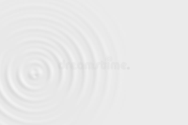 Абстрактная мягкая предпосылка, текстура кольца белой воды или белая жидкостная поверхность бесплатная иллюстрация