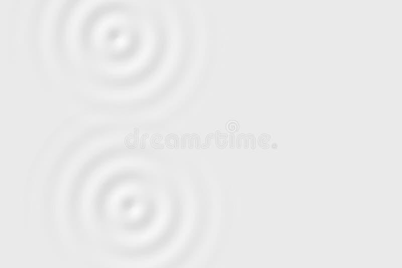 Абстрактная мягкая предпосылка, текстура кольца белой воды или белая жидкостная поверхность иллюстрация штока