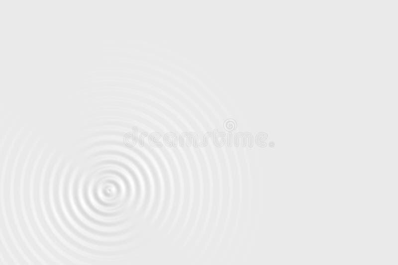 Абстрактная мягкая предпосылка, текстура кольца белой воды или белая жидкостная поверхность иллюстрация вектора