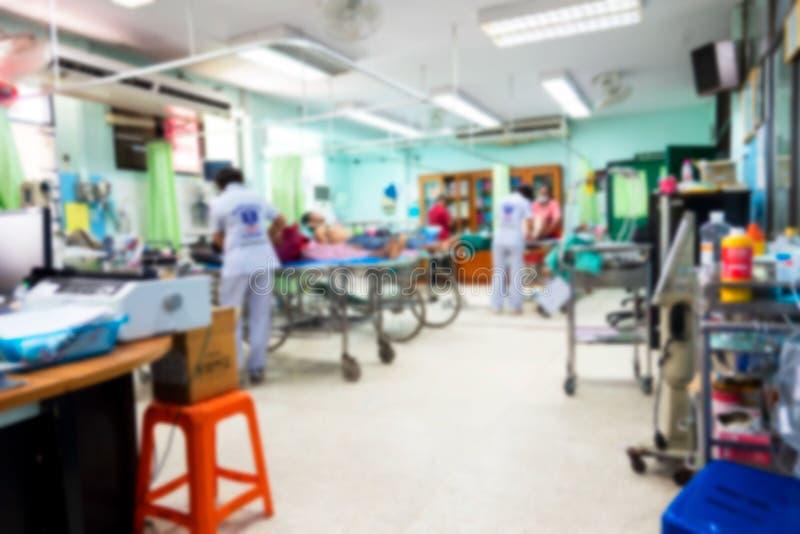 Абстрактная нерезкость на больнице, доктор и медсестра работают больница стоковое изображение rf