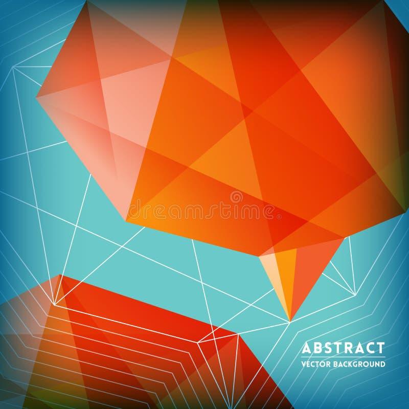 Абстрактная низкая полигональная предпосылка формы мозга бесплатная иллюстрация