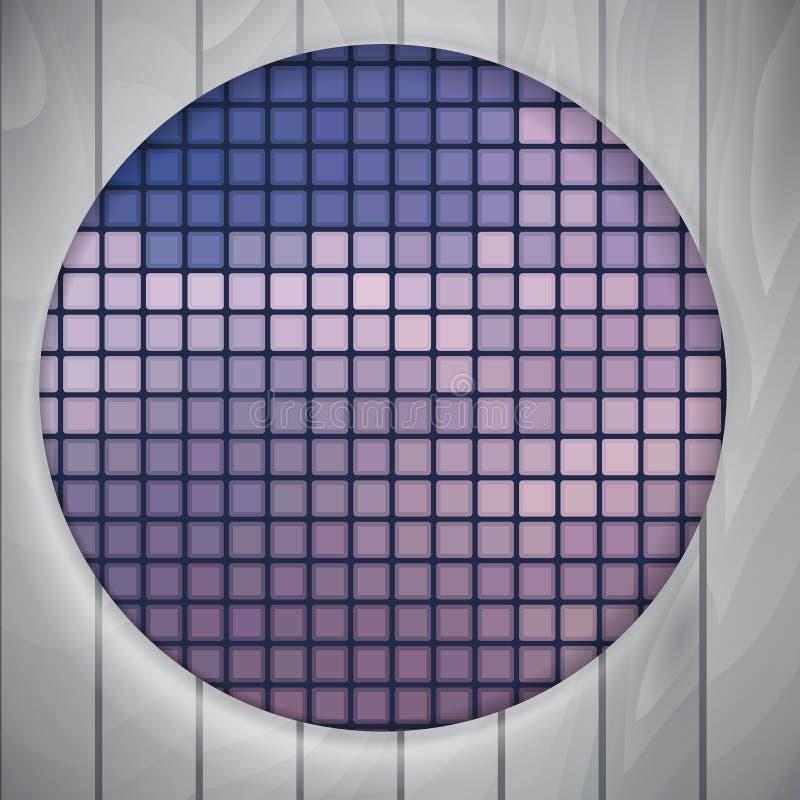Абстрактная округлая форма с рамкой бесплатная иллюстрация