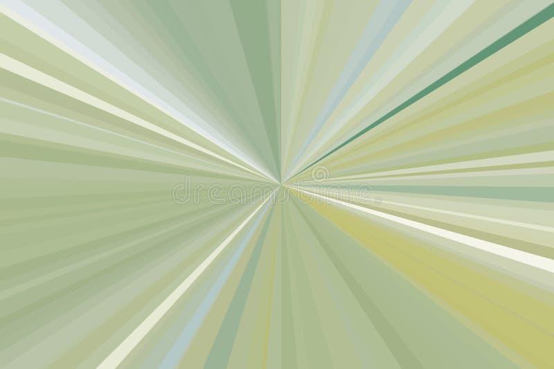 Абстрактная оливка, зеленый цвет излучает предпосылку Stripes конфигурация пучка излучения Цвета тенденции стильной иллюстрации с стоковая фотография rf