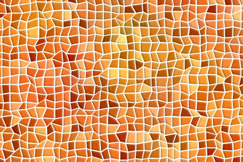 Абстрактная оранжевая предпосылка красочных квадратов и полигонов иллюстрация вектора