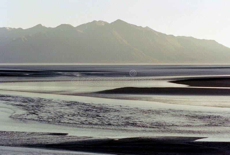 АБСТРАКТНАЯ панорама залива Аляски Анкоридж стоковые изображения