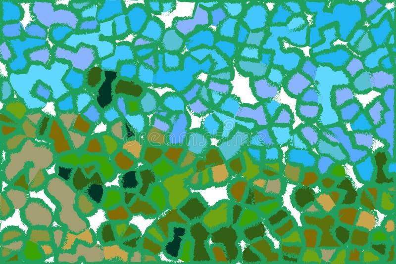 Абстрактная пастельная мягкая красочная ровная запачканная текстурированная предпосылка с фокуса тонизировала в свете - голубом ц иллюстрация вектора