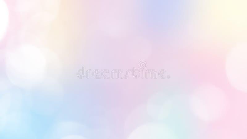 Абстрактная пастельная предпосылка феи с сеткой радуги Знамя вселенной Kawaii в цветах принцессы иллюстрация вектора