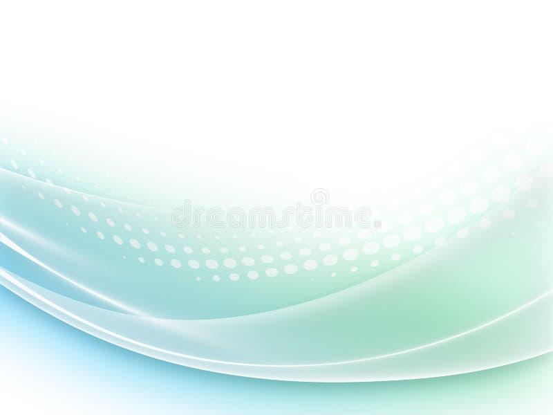 Абстрактная пастельная синь и зеленая ровная иллюстрация волнового движения бесплатная иллюстрация