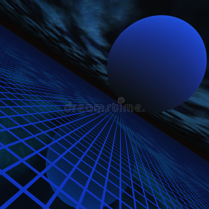 абстрактная перспектива горизонта иллюстрация штока