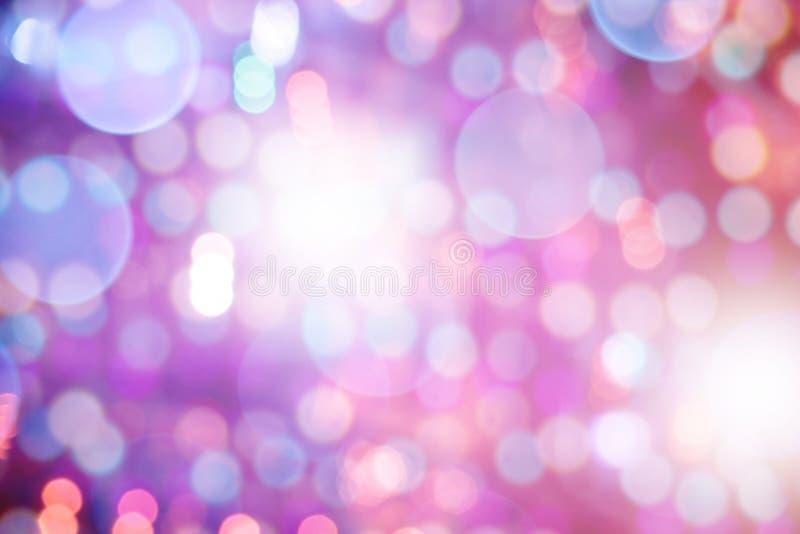 Абстрактная пестротканая светлая предпосылка с defocused bokeh стоковые изображения rf