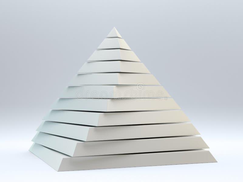 абстрактная пирамидка 3d иллюстрация вектора