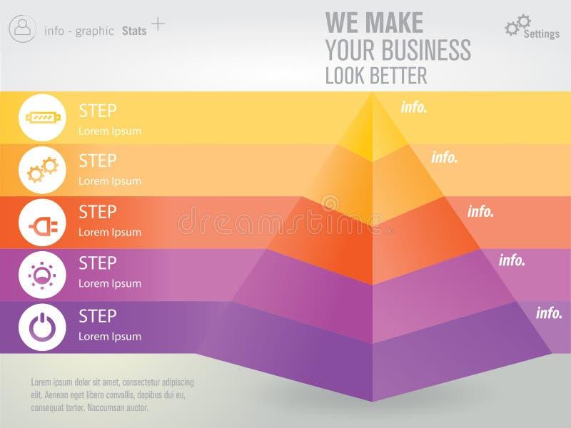 Абстрактная пирамидка иллюстрация штока