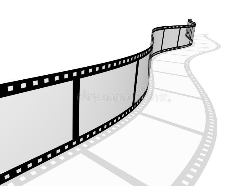 абстрактная пленка для транспарантной съемки 3d фотографическая иллюстрация вектора