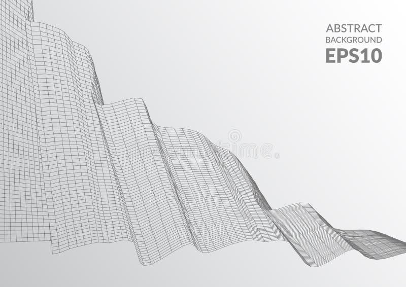абстрактная поверхность 3d Иллюзия искажения космоса бесплатная иллюстрация