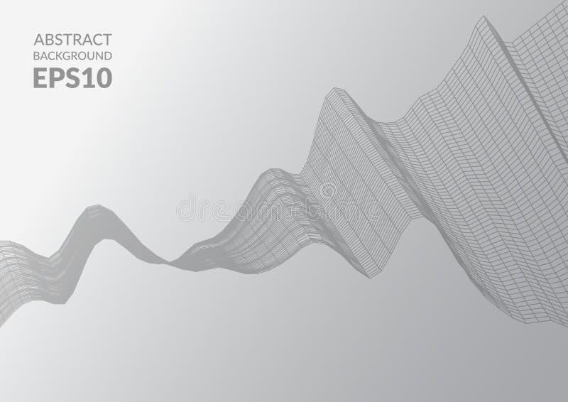 абстрактная поверхность 3d Иллюзия искажения космоса иллюстрация штока