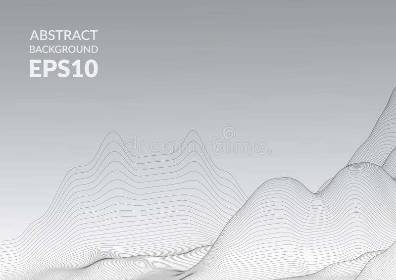 абстрактная поверхность 3d Иллюзия искажения космоса иллюстрация вектора