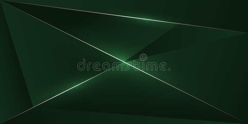 абстрактная полигональная линия темная коричневая предпосылка золота иллюстрация штока