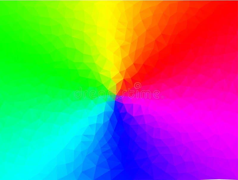 Абстрактная полигональная предпосылка радуги иллюстрация вектора