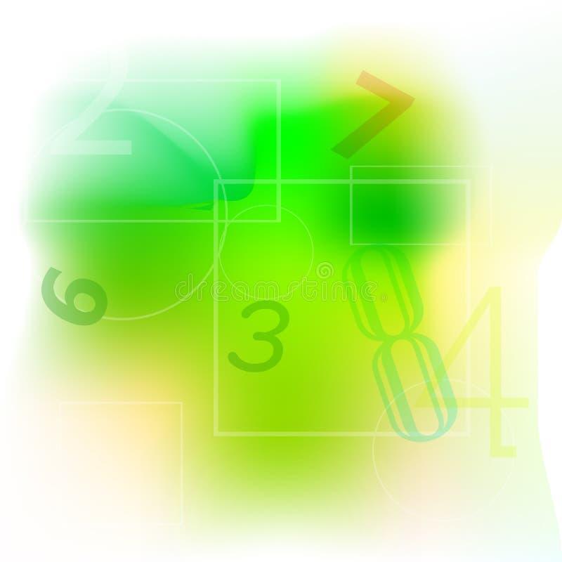 Абстрактная постепенно желтая предпосылка белых и зеленых цветов для вашего дизайна элемента иллюстрация штока