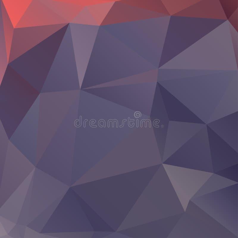 Абстрактная полигональная красивая предпосылка иллюстрация штока