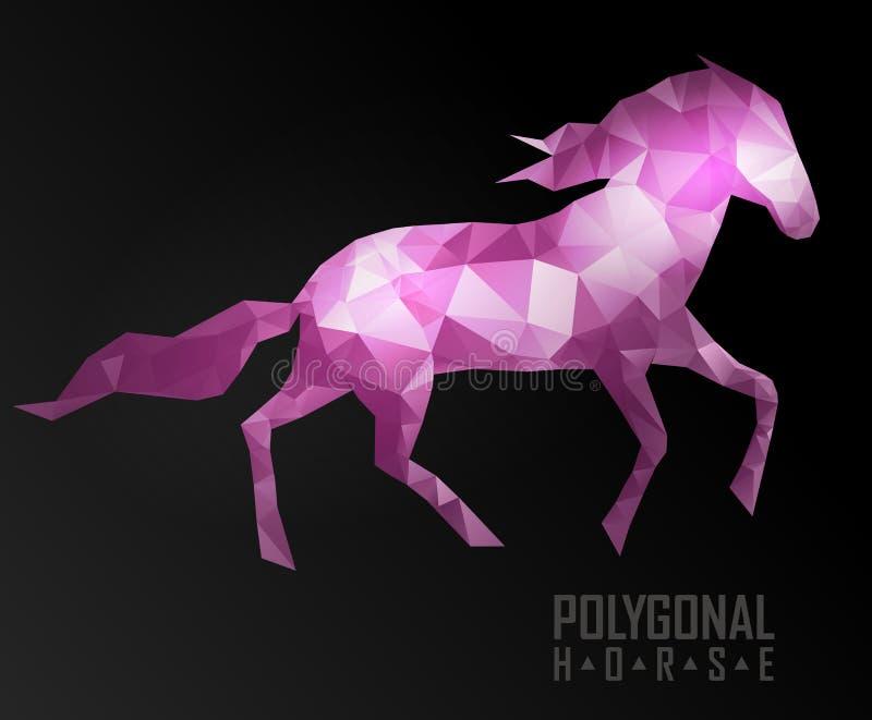 Абстрактная полигональная лошадь Геометрический битник иллюстрация вектора