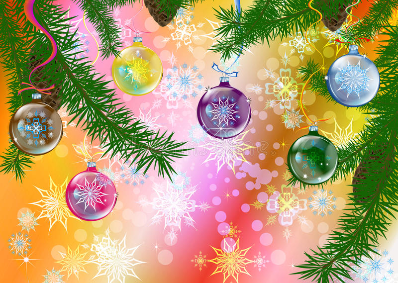 абстрактная праздничная зима иллюстрации иллюстрация вектора