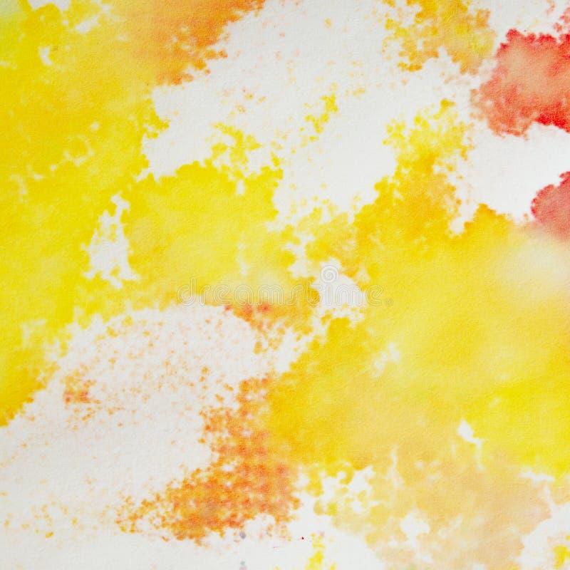 Абстрактная предпосылка акварели Яркое красочное искусство краски руки на предпосылке белой бумаги стоковые изображения