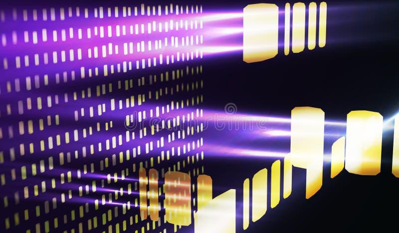 абстрактная предпосылка Большая концепция визуализирования данных иллюстрация штока