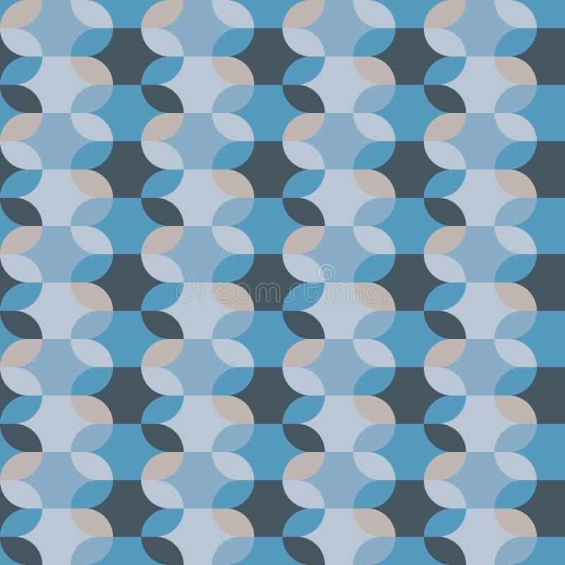 Абстрактная предпосылка вектора картины овальной формы безшовной бесплатная иллюстрация
