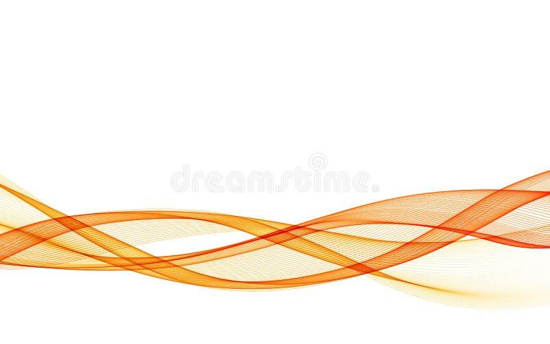 Абстрактная предпосылка вектора с оранжевой ровной волной цвета бесплатная иллюстрация