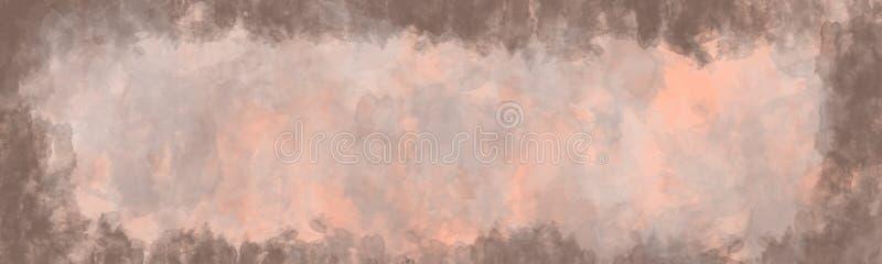 Абстрактная предпосылка, винтажная текстура с границей иллюстрация штока