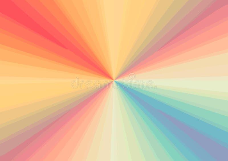 Абстрактная предпосылка в форме пестротканый яркий протягивать в расстояние сходясь к пункту радуги, LGBT иллюстрация штока