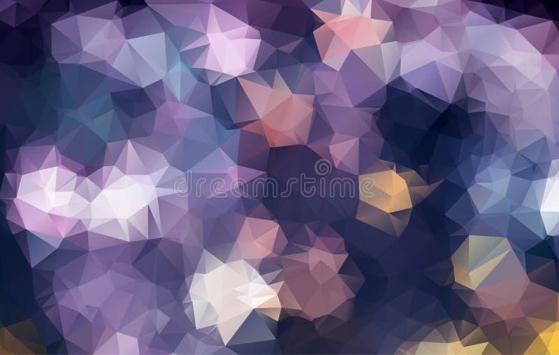 абстрактная предпосылка геометрическая Современные перекрывая треугольники Абстрактная предпосылка полигона с коричневыми sades А иллюстрация вектора