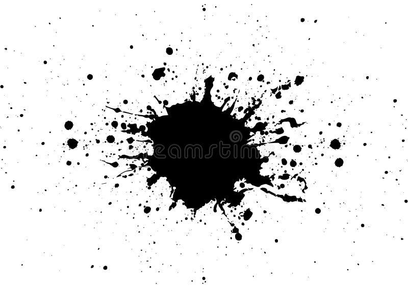 Абстрактная предпосылка дизайна цвета черноты splatter Illustra иллюстрация вектора