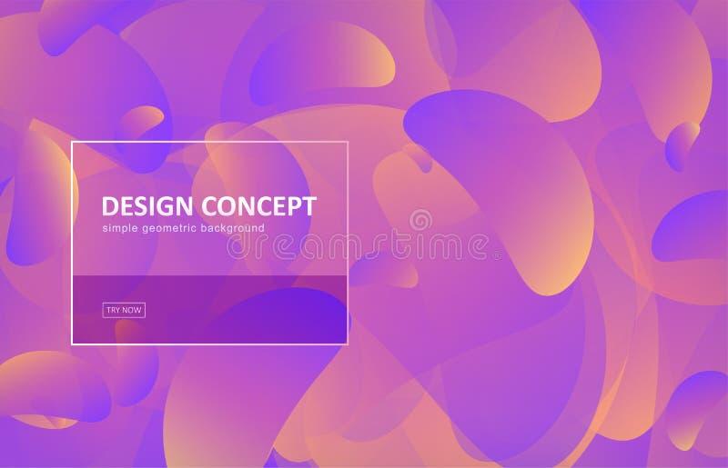 Абстрактная предпосылка, дизайн вектора формы градиента геометрический Графическая картина в минимальном стиле Динамический фон д бесплатная иллюстрация