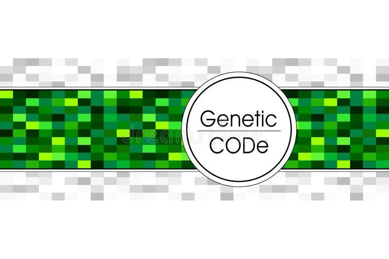 Абстрактная предпосылка для медицины науки генетической в зеленом цвете иллюстрация штока