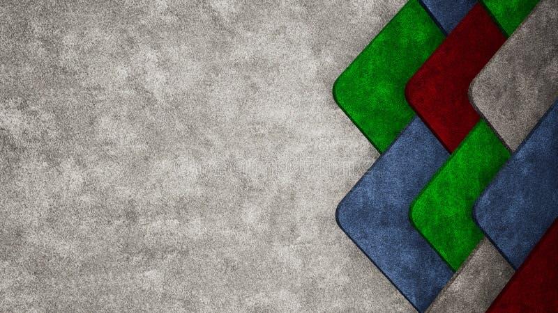 Абстрактная предпосылка иллюстрации текстуры ковра 3D иллюстрация вектора