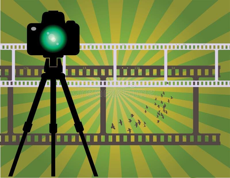 Абстрактная предпосылка камеры бесплатная иллюстрация