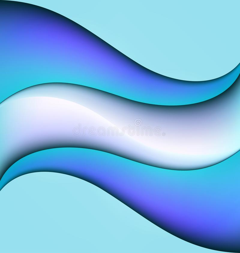 Абстрактная предпосылка картины вектора волн воды геометрическая безшовная повторяющийся бесплатная иллюстрация