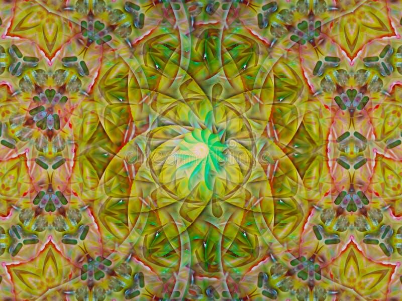 Абстрактная предпосылка картины калейдоскопа иллюстрация вектора