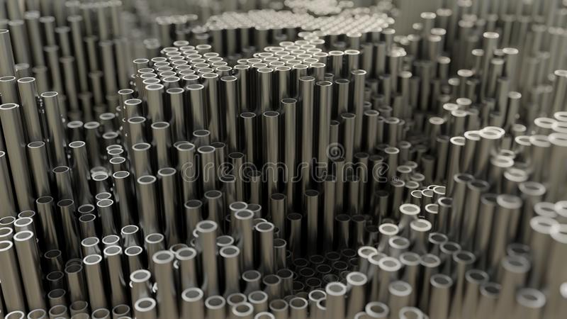 Абстрактная предпосылка конца вверх трубы металла бесплатная иллюстрация