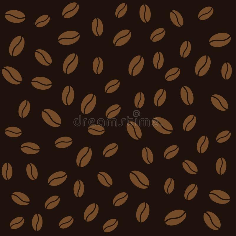 Абстрактная предпосылка коричневого цвета картины кофейных зерен бесплатная иллюстрация