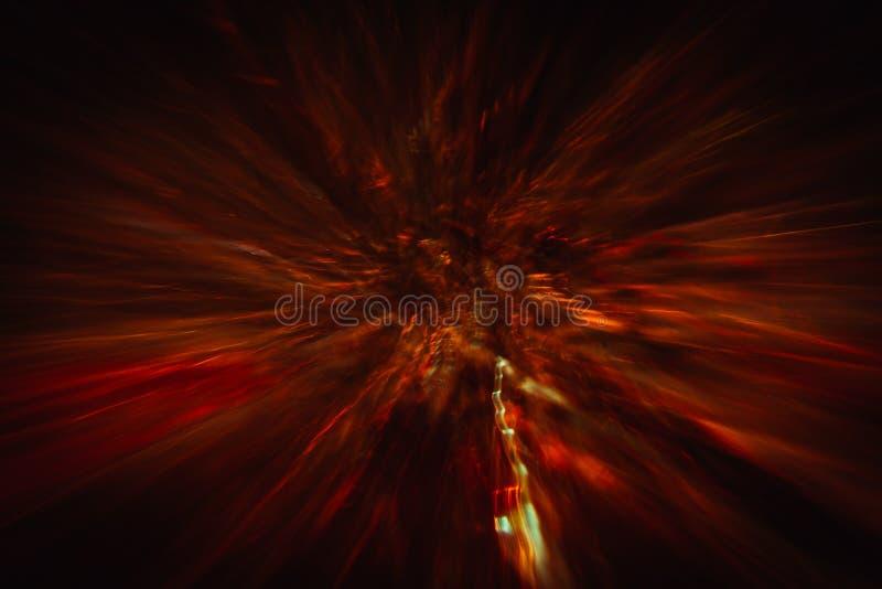 Абстрактная предпосылка красочных crankles в движении стоковая фотография rf