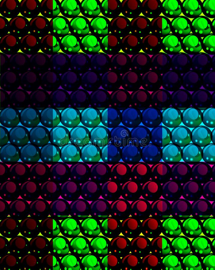Абстрактная предпосылка мозаики с сферами другого цвета иллюстрация вектора